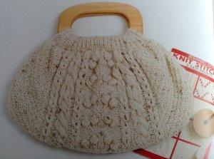 画像1: 縄編みのバッグ