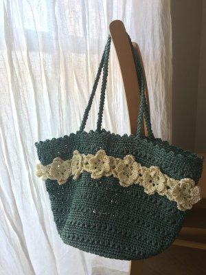 画像1: 花モチーフのショルダーバッグ