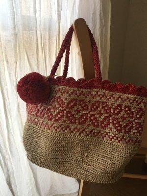 画像1: 編み込みのマルシェバッグ